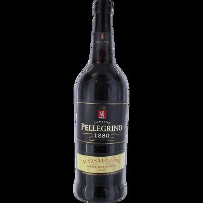 Marsala fine PELLEGRINO, 17°, bouteille de 75cl