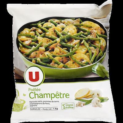 Poêlée champêtre aux légumes, pommes de terre et champignons de ParisU, sachet 1kg