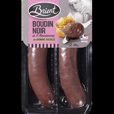 Boudin noir aux oignons à l'ancienne BRIENT, 2x125g