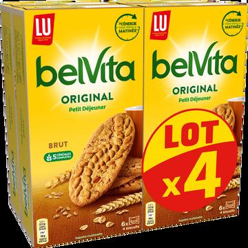 LU Biscuits Brut De Céréales Belvita Lu, 4x400g