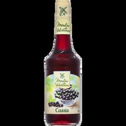 Sirop de cassis MOULIN DE VALDONNE, bouteille en verre de 70cl