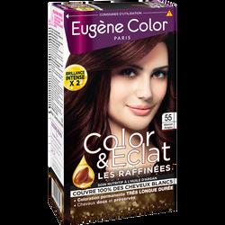 """Coloration crème permanente """"Les Raffinées"""" EUGENE COLOR, marron acajou n°55"""