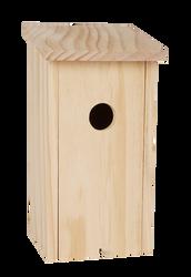 Nichoir en pin fsc 12x11,5x23,5cm-étiquette couleur