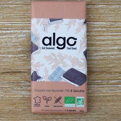 TABLETTE CHOCO-SPIRULINE 71% EQUITABLE 30G - ALGO BIO