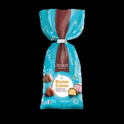 Boules de chocolat au lait fourrées crème JACQUOT, sachet de 250g