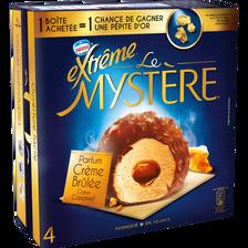 Mystères crème brûlée coeur caramel EXTREME, 4 unités, 308g