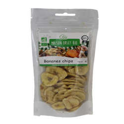 Chips de bananes bio MAISON ORSET BIO, sachet de 60g