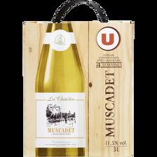 Vin blanc AOP Muscadet La Chatelière U, fontaine à vin de 3l