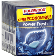 Hollywood Chewing-gum Powerfresh Sans Sucres Hollywood, X5