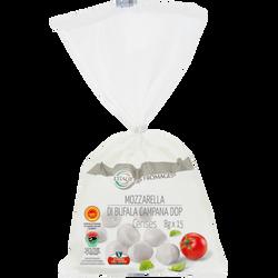 Cerises de mozzarella di bufala campana DOP au lait thermisé 24% de MG, L' ITALIE DES FROMAGES, 8x15g soit 120g