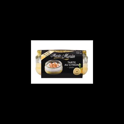 Tarte au citron yuzu meringuée MARIE MORIN, pot en verre de 100g