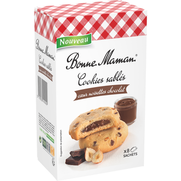 Bonne Maman Sables Fourres Choco Noisette Bm 200g