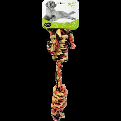 Jouet corde double noeud, 40cm, AIME