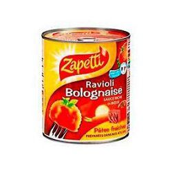 Ravioli sauce bolognaise ZAPETTI, boîte de 800g
