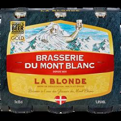 Bière blonde MONT BLANC 5.8°, 3 bouteilles de 33cl
