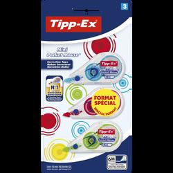 3 rubans correcteurs BIC Tipp-ex mini pocket mouse fashion, 5mmx5m