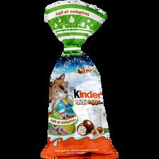 Petits oeufs fourrés au lait et à la noisette KINDER, sachet de 182g