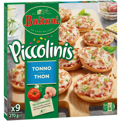 Piccolinis thon BUITONI, x9, 270g