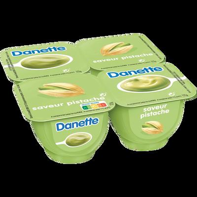 Crème dessert saveur pistache DANETTE, 4x125g