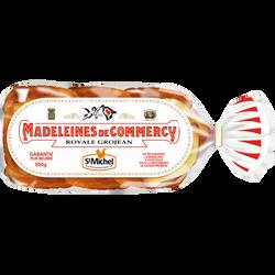 Madeleine de Commercy pur beurre Royale Grojean ST MICHEL, 12 unités,300g