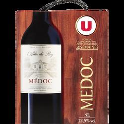 Vin rouge AOP Médoc L'Allée du Roy U, fontaine à vin de 3l