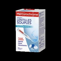 Solution lentilles souples MERCUROCHROME 15 unidoses de 10ml