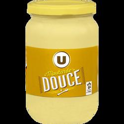 Moutarde douce U, bocal en verre de 355g