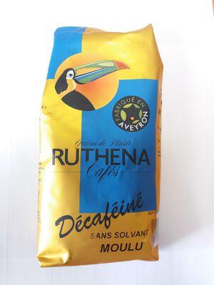 CAFE MOULU DECAFEINE RUTHENA SACHET 250G