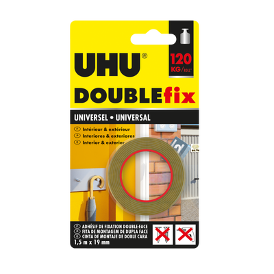 Doublefix ultra fort universel, 120kg, 1,5mx19mm
