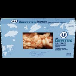 Crevettes sauvage d'Argentine décortiquée crues U, 220g