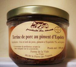Terrine de porc au piment de l'Espelette Produits du Causse 180g