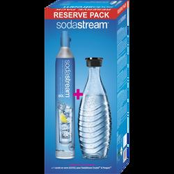 Pack réserve SODASTREAM avec carafe en verre et cylindre co2