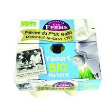 Yaourt BIO Nature(4*125g) Ferme du p'tit Gallo Montreuil le Gast (35)