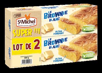 St Michel Brownie Chocolat Blanc St Michel Paquet 2x240g 480g