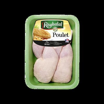 Cuisse de poulet blanc, REGHALAL, France, 4 pièces