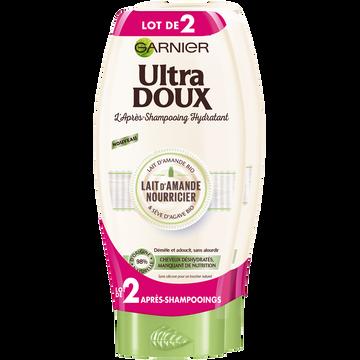 Garnier Après Shampooing Lait Amande Ultra Doux 2x200ml