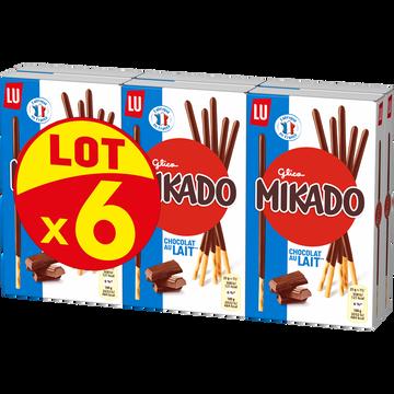 LU Biscuits Chocolat Au Lait Lu Mikado, 6x90g