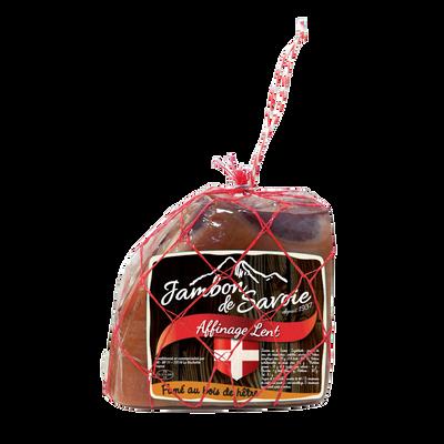 1/4 Jambon sec de Savoie sans os fumé H RAF, environ 1.050kg