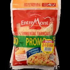 Entremont Emmental Français Râpé Au Lait Thermisé 29%mg  2x160g+1gratuit