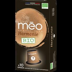 Café harmonie MEO, étui de 10 capsules de 53g
