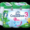 Candia Baby Croissance 3 Bio , Bouteille 6x25cl