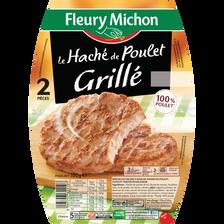 Le haché de poulet grillé FLEURY MICHON, 2x80g soit 160g
