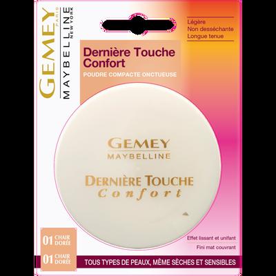 """Poudre compacte """"Dernière touche"""" n°01 chair dorée - blister MAYBELLINE"""