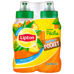 LIPTON pêche, 4 bouteilles de 200ml