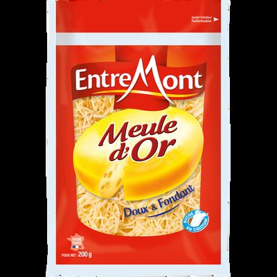 Emmental meule d'or rapé lait thermisé 28% de MG ENTREMONT, 200G