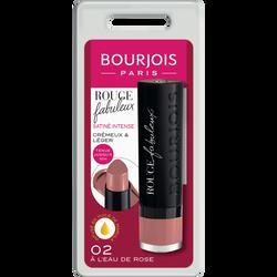 Rouge à lèvres fabuleux 002 a l'eau de rose BOURJOIS, blister, 2,4gr
