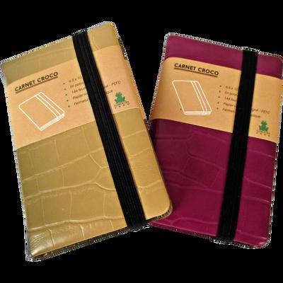 Carnet de notes croco, 6,5x10,5cm, 144 pages, 80g