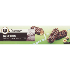 Gaufrino saveurs U, paquet de 100g