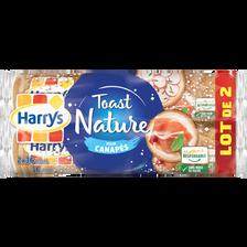 Toasts ronds au pain de mie nature pour canapés HARRY'S, 2 lots, 280g