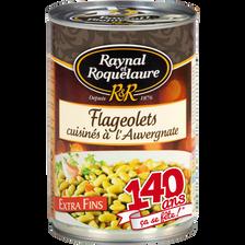 Flageolets cuisinés à l'Auvergnate RAYNAL ET ROQUELAURE, 410g